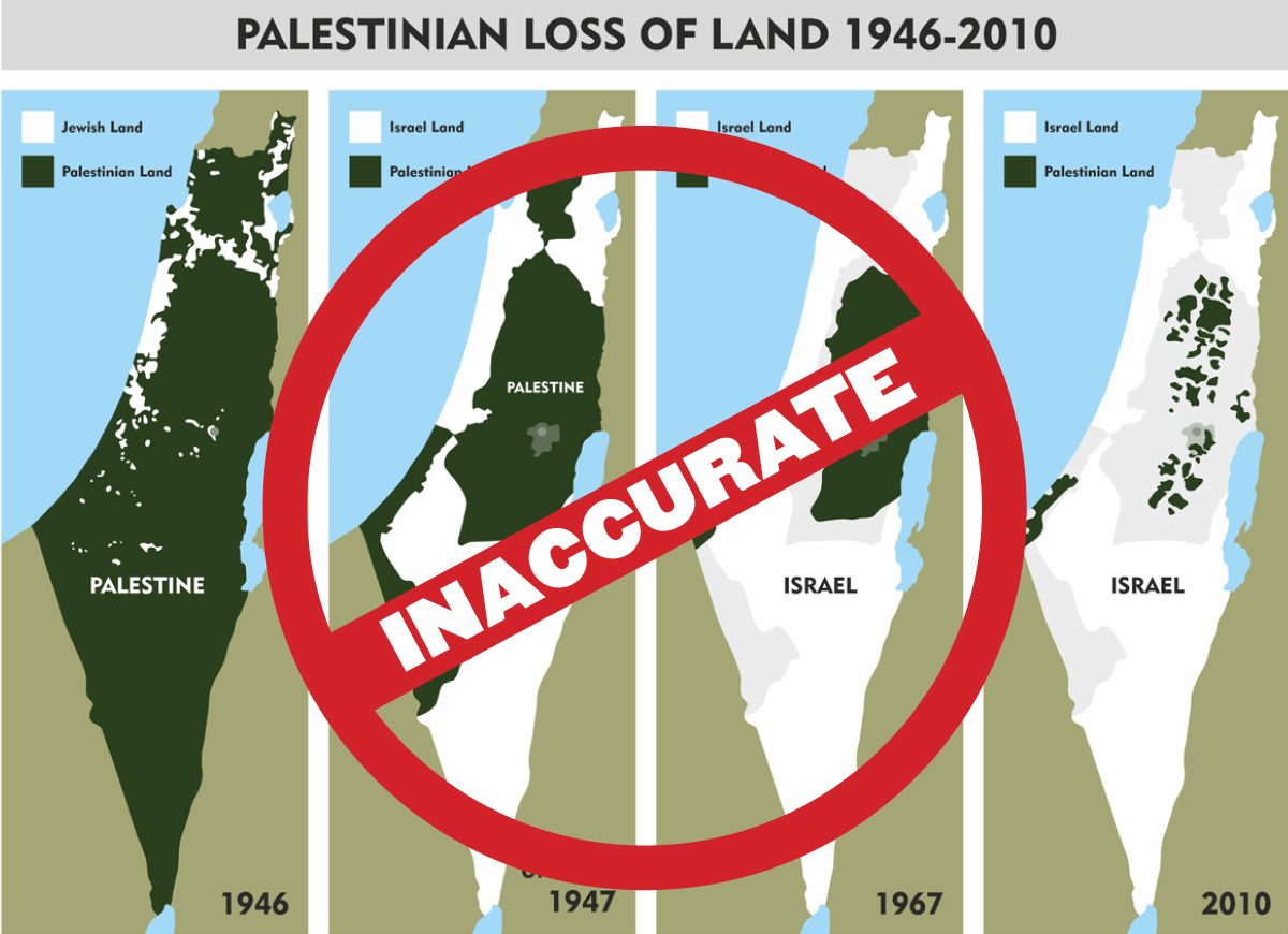 "Misleading and Harmful: the ""Palestinian Loss of Land"" Maps"